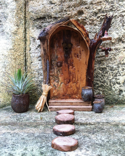 Fairy Door  with wind chime