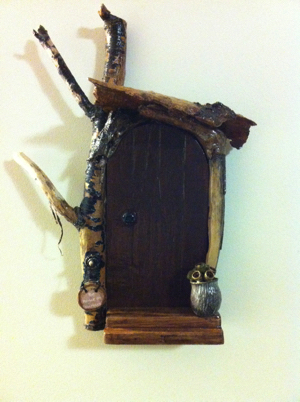 Fairy Door 15 -  Hanging on wall.
